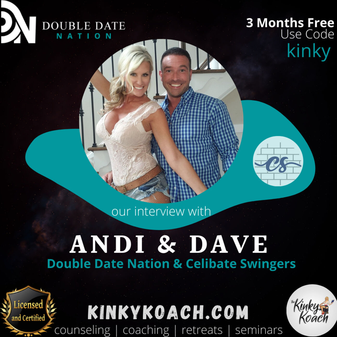 KinkyKoach.comSex Coach|Courses|Retreats|Seminars|PodcastStephanie a licensed mental health professional and Fox a sex coach interview their friends Admin Andi and Double Date Dave from Double Date Nation.